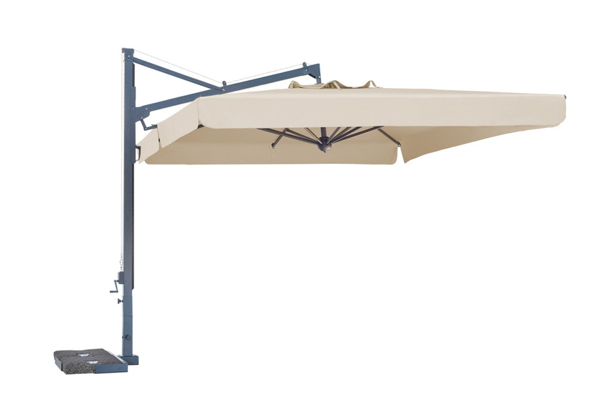 Cantilever patio umbrella with Volant